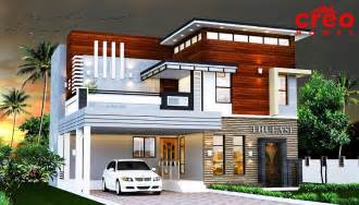Kerala Home Design Double Floor by 2165 Sq Ft Double Floor Contemporary Home Design