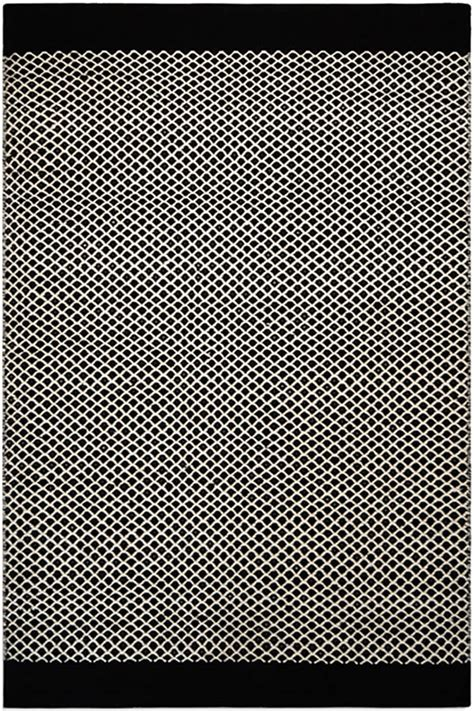 black patterned rugs belle black and white patterned rug by i love retro