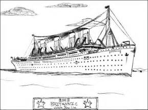 britannic colouring pages