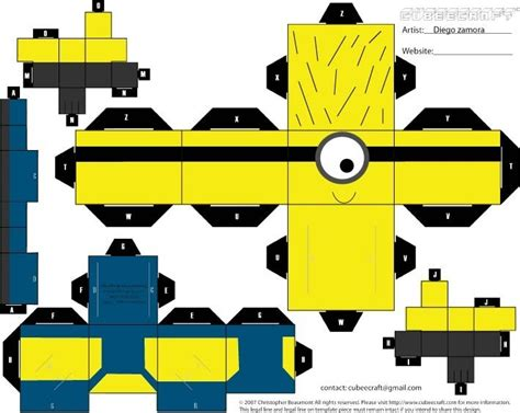 Print And Make Paper Toys - its despicableme print and try to make it d