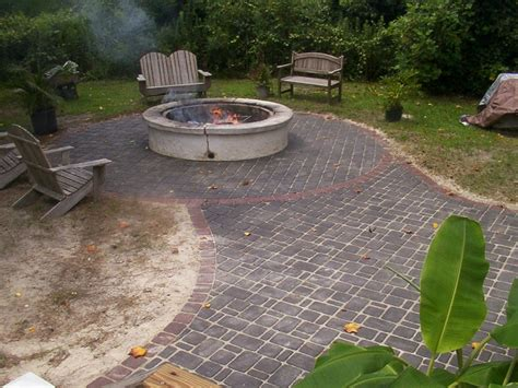 Patio With Firepit Brick Patio Ideas For Your House Homestylediary