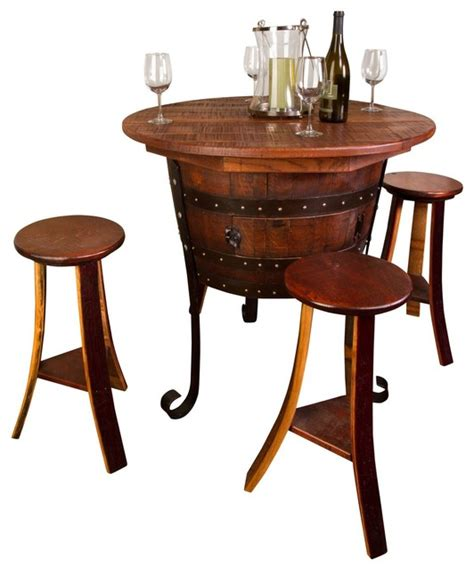 Napa Bistro Table World Table With Cabinet Set Rustic Indoor Pub And Bistro Sets By Napa East Collection