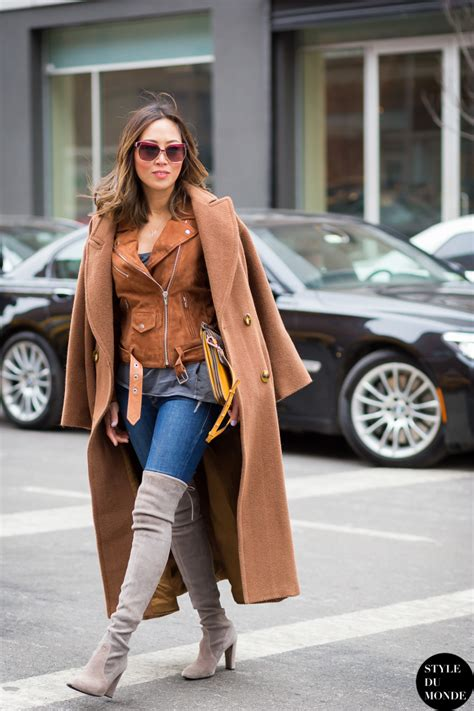 bye bye skinny jeans a stylist reader on the trials of how street style stars wear denim blue and brown together