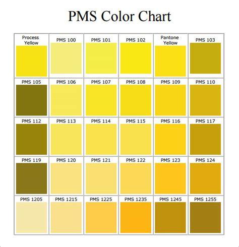 color pdf 7 sle pms color chart templates to sle