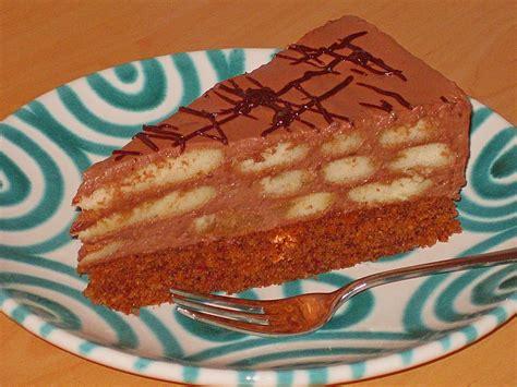einfache kuchen rezepte schoko schokolade biskotten torte rezept mit bild rocky73