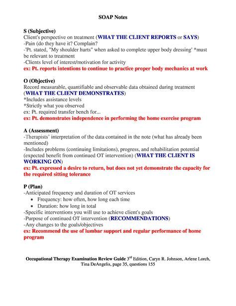 physical therapy report sle sle occupational therapy soap note search