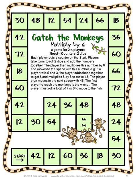 printable board games for math fun games 4 learning free math magazine to enjoy