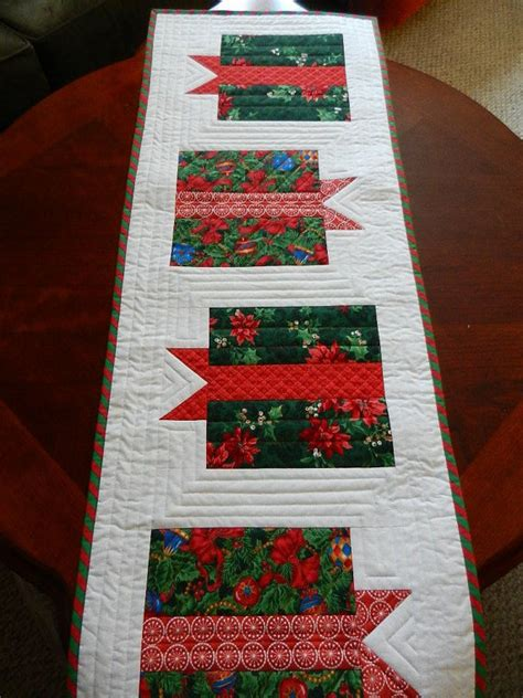 quilted christmas table runner holiday gift boxes table