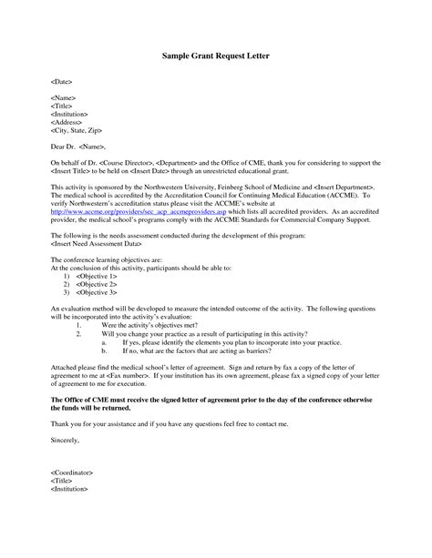 cover letter for grant grant request letter write a grant request letter