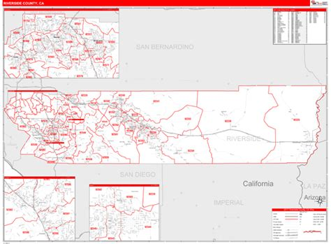 zip code map riverside county riverside county ca zip code maps red line style