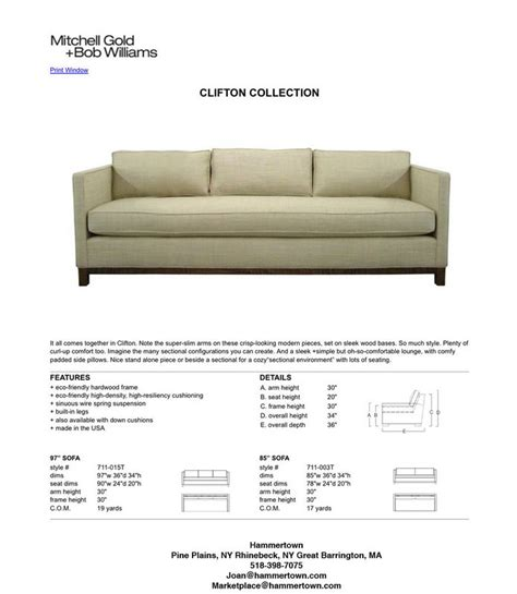 sofa dimensions spotlight on clifton hammertown