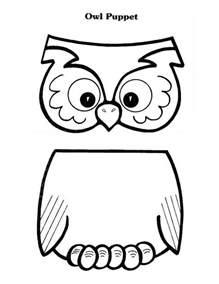 paper bag puppet templates owl puppet paper bag puppets owl