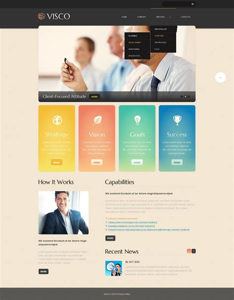 Marketing Agency Website Template 41667 Marketing Agency Website Template
