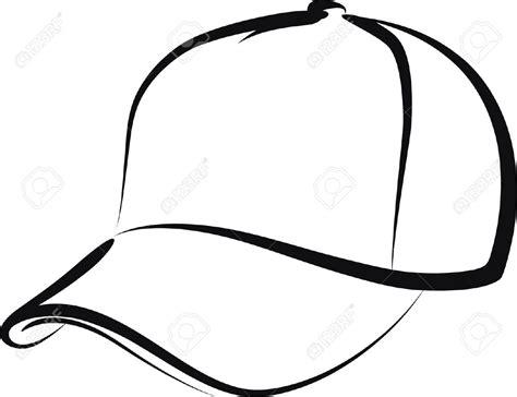 Line Cap Topi Pet baseball caps outline clipart
