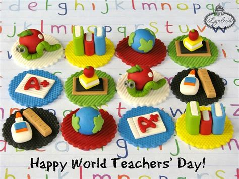 theme for education day cupcakes for teachers show your appreciation on world