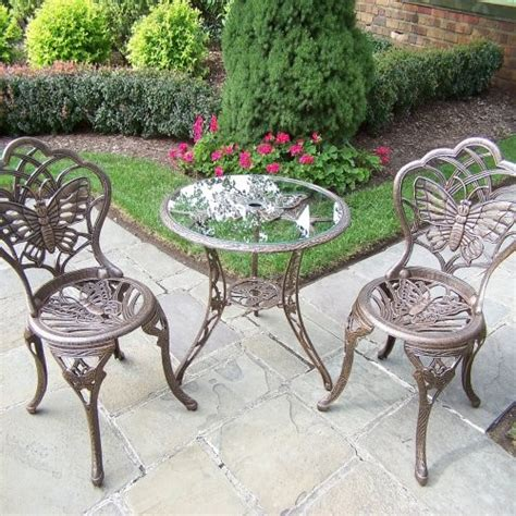 oakland living butterfly bistro set traditional indoor
