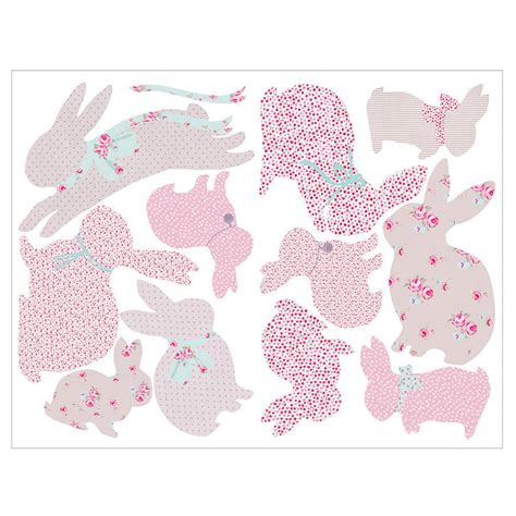 Wallpaper Sticker Pvc Rabbit by Vintage Floral Rabbit Wall Stickers By Koko