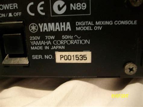console yamaha 01v yamaha 01v audiofanzine