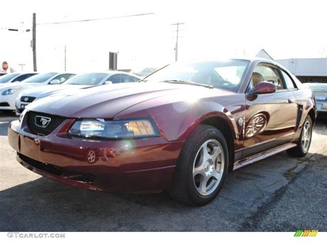 2004 40th anniversary crimson metallic ford mustang v6