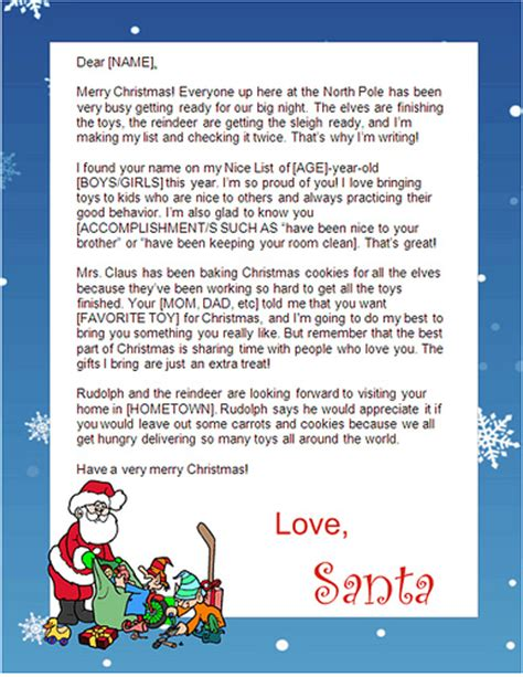 printable letters from santa 2014 8 best images of letters from santa free printable free