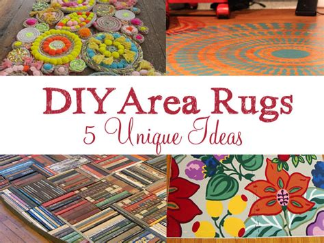 Diy Area Rug Ideas by 5 Unique Diy Area Rug Ideas