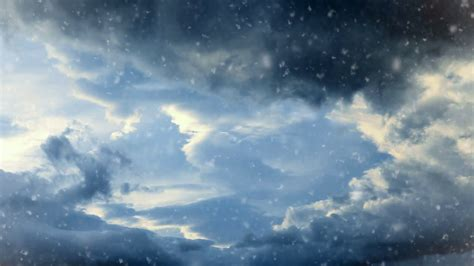 dramatic background dramatic sky background with snow stock