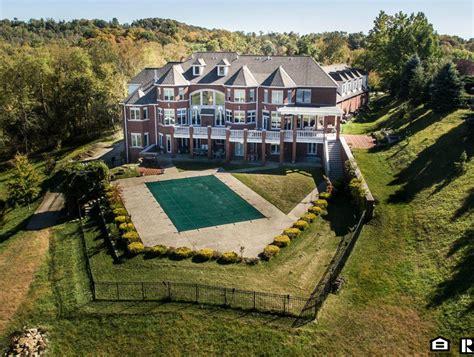 million brick mansion  wheeling wv homes   rich