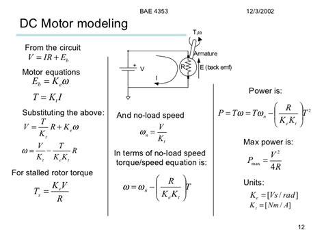 motor speed formula motors