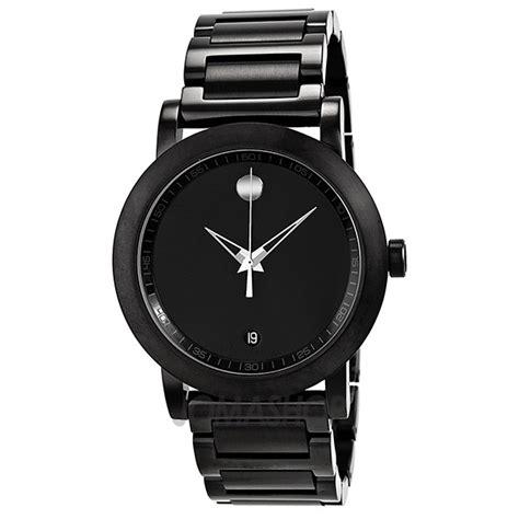 Movado Museum Sport Black Dial Black IP Stainless Steel Men's Watch 0606615   Museum   Movado