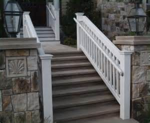 Exterior Wooden Handrail jamestown railing with safety rail commercial and residential solid cellular pvc wood and