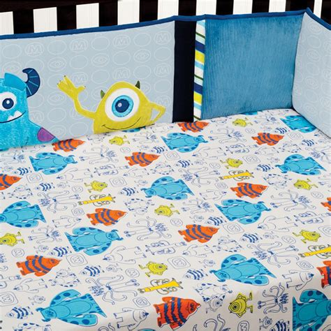 monster inc crib bedding monsters inc premier crib bumper disney baby