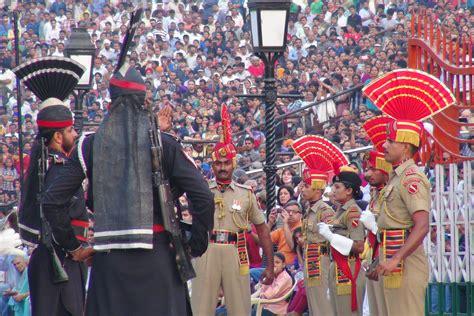india pakistan india pakistan border ceremony one peel