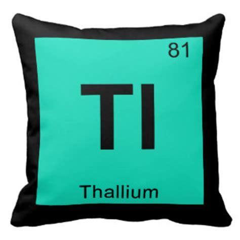 Tl Periodic Table by Periodic Table Symbol Pillows Periodic Table Symbol Throw