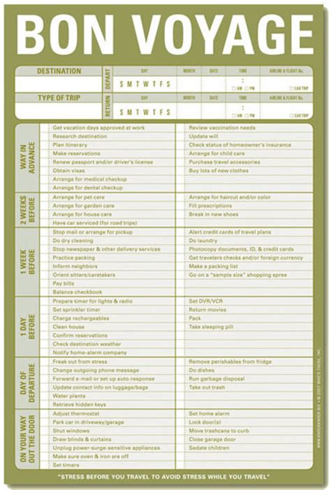 printable cruise travel checklist 7 best images of cruise vacation checklist printable