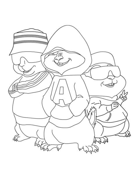 Alvin And The Chipmunks Coloring Pages Coloring Pages To Alvin And The Chipmunks Colouring Pages