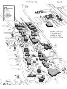 map of east carolina east carolina cus map