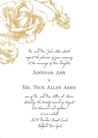 Wine And Gold Template Wedding Invitation Card Sle by Wedding Invitations Match Your Color Style Free