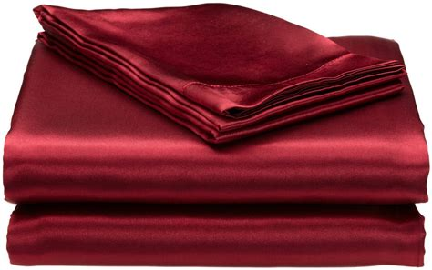 satin bed sheets queen size bed bedding silky satin luxurious fitted sheet