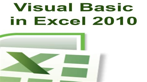 tutorial excel 2010 principiantes excel 2010 vba tutorial 1 creating a macro with visual