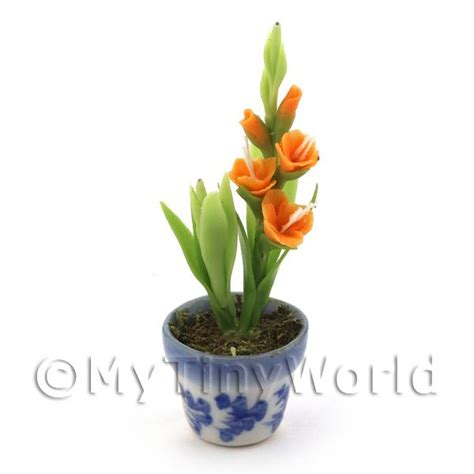 dolls house flowers dolls house miniature flowers and plants dolls house miniature potted orange flower