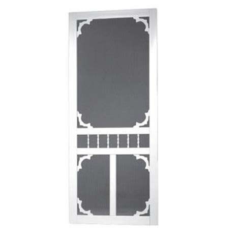 screen tight 36 in x 80 in carolina solid vinyl white