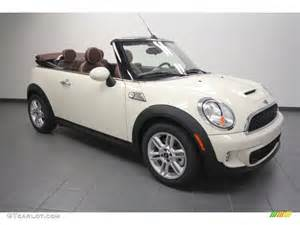 White Mini Cooper S Convertible Pepper White 2012 Mini Cooper S Convertible Exterior Photo