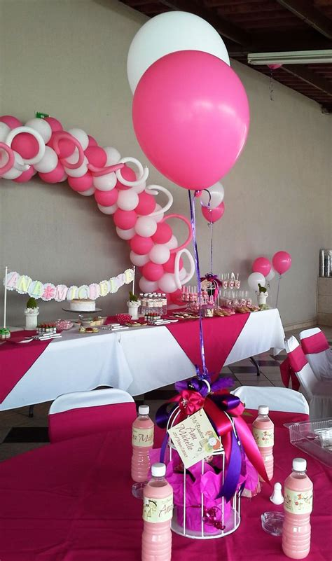 decoraci 243 n para bautizo de ni 241 a pink and white