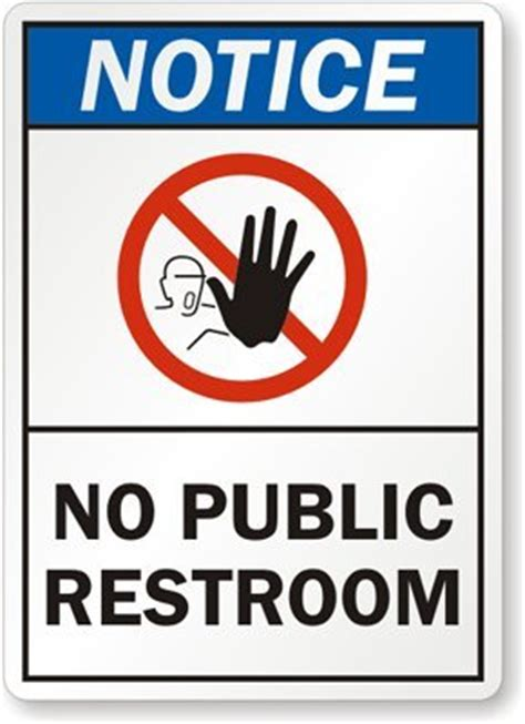 bathroom for customers only sign no public restroom with hand and no symbol sign 10 quot x 7