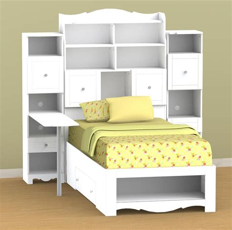headboard with storage charming bedroom for twin bed with storage and bookcase