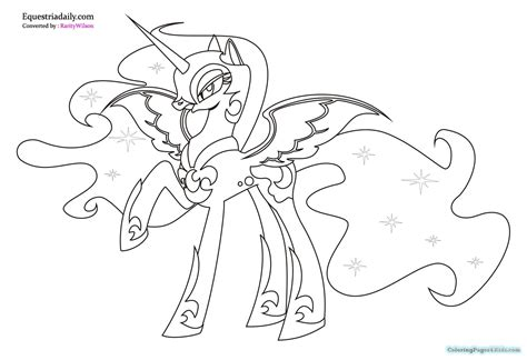 coloring page my little pony celestia my little pony coloring pages princess celestia and