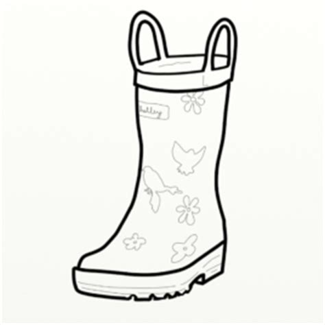 coloring page of rain boots sketch womens rain boots coloring pages