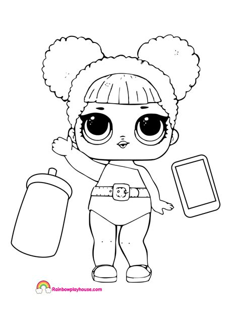 Coloring Page Lol Dolls by Lol Doll Coloring Pages Printable Lol Doll Coloring Pages
