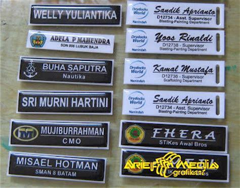 Papan Nama Kayu Instansi arief media brosur papan nama nama personal seragam