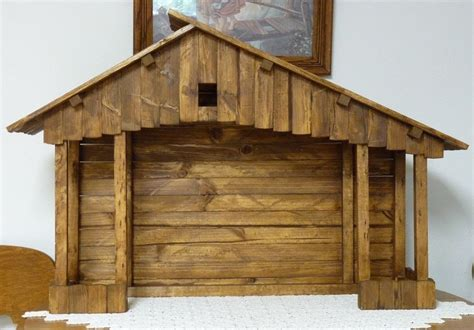 large handmade nativity stable nativity stable